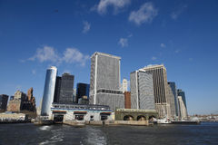 Doca de Manhattan, New York City Imagens de Stock