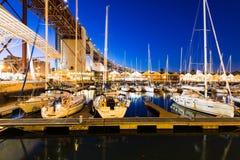 Doca de Santo Amaro Recreation em Lisboa, Portugal Imagens de Stock