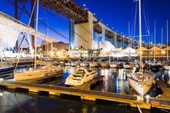 Doca de Santo Amaro Recreation em Lisboa, Portugal Fotografia de Stock Royalty Free