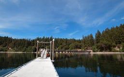 Doca do barco do parque estadual da praia de Joemma perto de Tacoma Washington Imagem de Stock