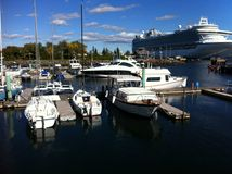 Doca do porto de Charlottetown fotografia de stock royalty free