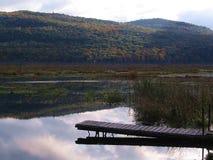 Doca em Bristol Pond Fotografia de Stock