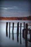 Doca em um lago Fotografia de Stock