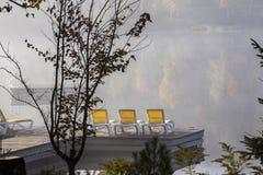 Doca na laca-Superieur, Mont-tremblant, Quebeque, Canadá Imagem de Stock