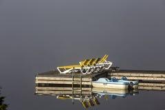 Doca na laca-Superieur, Mont-tremblant, Quebeque, Canadá Foto de Stock Royalty Free