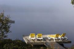 Doca na laca-Superieur, Mont-tremblant, Quebeque, Canadá Fotos de Stock Royalty Free