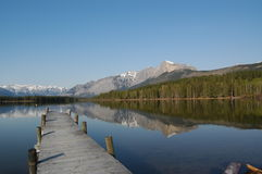 Doca no lago Imagem de Stock