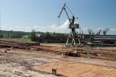 Guindaste da construção naval Fotos de Stock Royalty Free