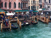 Doca Venetian Fotos de Stock Royalty Free