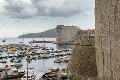 Docas de Dubrovnik velho Fotografia de Stock Royalty Free