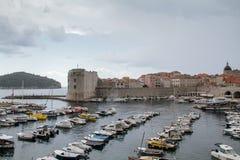 Docas de Dubrovnik velho Imagem de Stock Royalty Free
