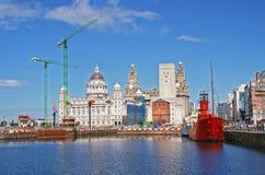 Docas de Liverpool Imagem de Stock Royalty Free