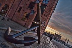 Docas de Liverpool da âncora Fotografia de Stock Royalty Free