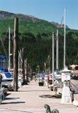 Docas em Seward Alaska Fotos de Stock