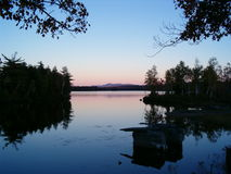 Docas velhas no lago Imagem de Stock