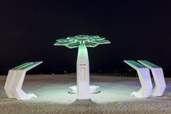 Doccia della spiaggia nel Dubai Immagini Stock