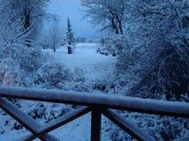 Doccia di neve recente di inverno Immagine Stock Libera da Diritti