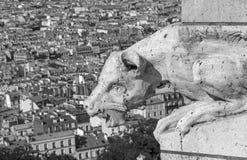 Doccione sulla basilica del cuore sacro Fotografia Stock Libera da Diritti