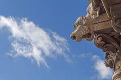 Doccione sulla basilica del cuore sacro di Parigi Fotografia Stock Libera da Diritti