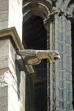 Doccione sulla parete del san Denis Cathedral, Parigi fotografia stock