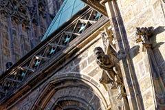 Doccione sulla parete della st Vitus Cathedral Prague Fotografia Stock