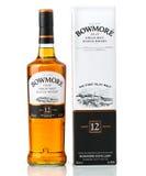 Doce años del whisky escocés Bowmore Fotografía de archivo
