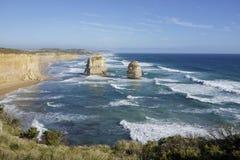 Doce apóstoles - gran camino del océano Fotografía de archivo