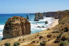 Doce apóstoles, gran camino del océano, Australia Foto de archivo libre de regalías