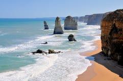 Doce apóstoles en el gran camino del océano, Australia Fotos de archivo libres de regalías