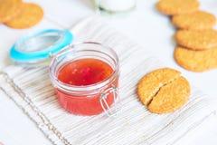 Doce com biscoitos como uma sobremesa Imagem de Stock