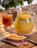 Doce da limonada do café da manhã Foto de Stock Royalty Free