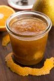 Doce da pera com laranja Imagem de Stock Royalty Free
