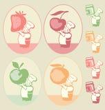 Doce de fruta assorted Imagem de Stock