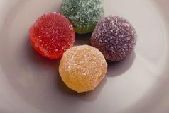 Doce de fruta colorido delicioso fotografia de stock