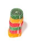 Doce de fruta colorido em uma forma do caracol Fotografia de Stock Royalty Free
