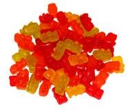 Doce de fruta de mastigação colorido como os ursos isolados fotografia de stock royalty free