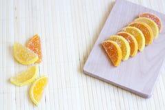 Doce de fruta do citrino Fotografia de Stock