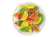 Doce de fruta em uma placa Fotografia de Stock