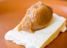 Doce de leite avec le queijo De Minas Image libre de droits