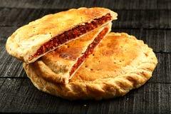 Doce delicioso fatias enchidas do pão imagem de stock royalty free