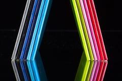 Doce diversos diarios de los colores Fotos de archivo libres de regalías
