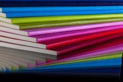 Doce diversos diarios de los colores Imagenes de archivo