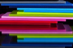 Doce diversos diarios de los colores Foto de archivo libre de regalías
