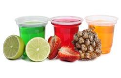 Doce em uns copos no branco Imagem de Stock