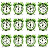 Doce horas de reloj de alarma foto de archivo