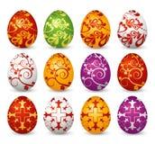 Doce huevos de Pascua, vector Fotos de archivo libres de regalías