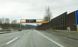 A10, doce na estrada do controlo de fronteiras, Walserberg Foto de Stock Royalty Free