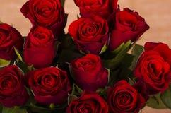 Doce rojo Valentine Roses Fotografía de archivo libre de regalías