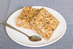 Doce tailandês feito do arroz, da porca, das sésamo-sementes e da sobremesa do açúcar Imagem de Stock Royalty Free