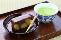 Doce tradicional japonês, mushi do kuri yokan Fotos de Stock